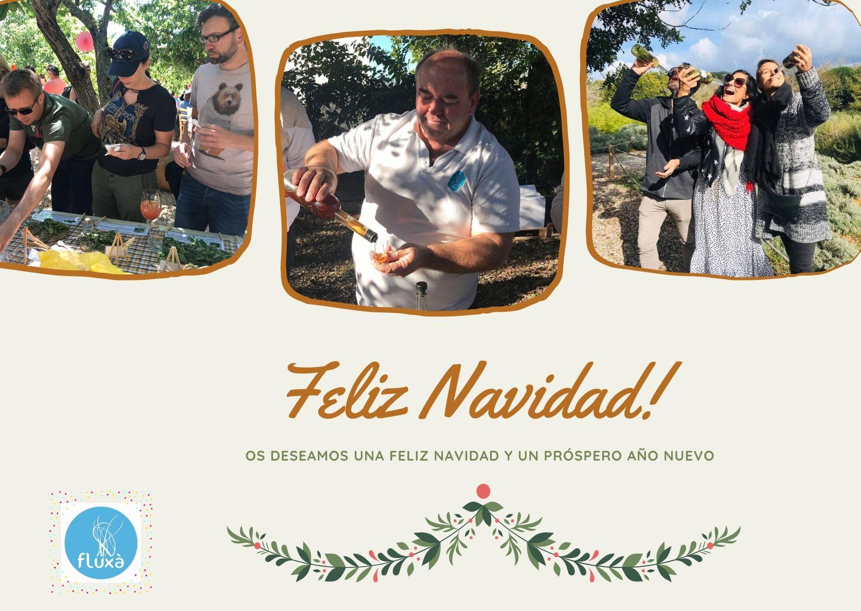 Cream Natural Christmas Card